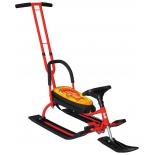 снегокат R-Toys 105 Белка Control Animals (с Т-образным толкателем, спинкой и управляемой передней лыжей)