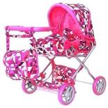 транспорт для кукол Коляска кукольная RT, розовые ромбы