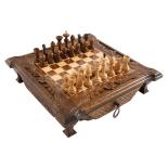 шахматы Haleyan, резные в ларце с ящиками 40, резные