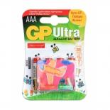 батарейка GP Ultra Alkaline 24А AАA - 4 шт. на блистере фонда Подари Жизнь