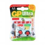батарейка GP Ultra Alkaline 15А AA - 4 шт. на блистере фонда Подари Жизнь