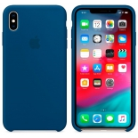чехол iphone Apple Silicone Case для iPhone XS Max (MTFE2ZM/A), Голубой Горизонт