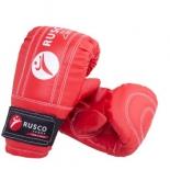 перчатки снарядные Rusco кожзам, красно-сине-черный, размер: L