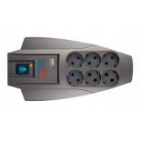 сетевой фильтр Pilot X-Pro 7м (6 розеток)серый