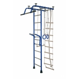 спортивный комплекс Крепыш Т-образный с навесным турником, синий