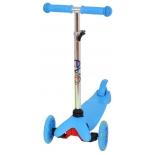 трехколесный самокат EVO Kids M-5 со светящимися колесами, голубой