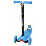 трехколесный самокат EVO Kids M-4 со светящимися колесами, голубой