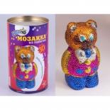 аппликация Мозаика из пайеток Волшебная мастерская 3D Мишка (3D-03)