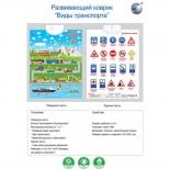 детский плакат Наша Игрушка Виды транспорта (двусторонний, 3 режима игры) F418