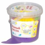 набор для лепки Genio Kids Умный песок 1 кг (SSR102), фиолетовый