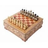 шахматы РФН ручной работы средние 30 ( резные, в ларце )