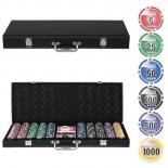 набор для покера Partida Leather Black 500 фишек