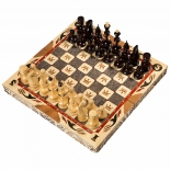шахматы РФН ручной работы С Гербом (малые, резные)