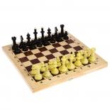 шахматы Владспортпром Айвенго (+ шашки) обиходные пластик с деревянной шахматной доской