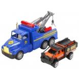 игрушки для мальчиков Набор ТехноПарк автотягач-эвакуатор с машиной 1009-EVO-R