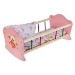 Мебель для кукол Кроватка Карапуз Мой мишка (RB-B-P) деревянная, купить за 1 590руб.