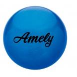 мяч гимнастический Amely AGB-101, 15 см, синий, с блестками