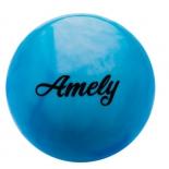 мяч гимнастический Amely AGB-101, 19 см, синий/белый