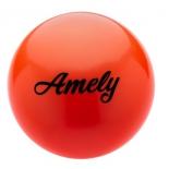 мяч гимнастический Amely AGB-101, 15 см, оранжевый