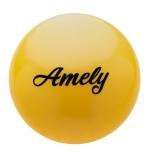 мяч гимнастический Amely AGB-101, 15 см, желтый