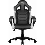 Игровое компьютерное кресло Aerocool AC60C AIR-BW, черно-белое, купить за 7 950руб.