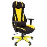 игровое компьютерное кресло Chairman game 14 чёрное/жёлтое 7022221