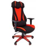 компьютерное кресло Chairman game 14 чёрное/красное