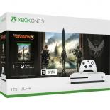 игровая приставка Microsoft Xbox One S 234-00882, белая (в комплекте игра Tom Clancys)