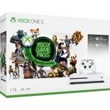 игровая приставка Microsoft Xbox One S с 1 ТБ памяти, Абонемент Xbox Game Pass сроком на 3 мес. и Золотой статус Xbox Live Gold на 3 месяца
