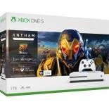 игровая приставка Microsoft Xbox One S, белая (в комплекте игра Anthem)