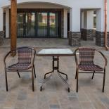 комплект садовой мебели Afina  Асоль-2B TLH-037BR2/060SR-60х60 Brown