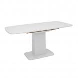 стол обеденный Мебель Импэкс Leset Денвер 1Р белый лак, стекло белое