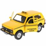 игрушки для мальчиков Машина ТехноПарк lada 4x4 такси 12 см (LADA4X4-T)