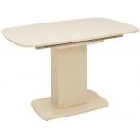 стол обеденный Мебель Импэкс Leset Денвер 1Р капучино лак, стекло капучино