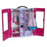 мебель для кукол Mattel Barbie (DMT57) розовый шкаф модницы