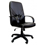 компьютерное кресло АЛВЕСТ AV 101 PL (727) МК Мозес зко кожа 223 черное