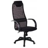 компьютерное кресло МЕТТА BK-8 PL № 20, черная сетка хром.подлокотники со вставкой экокожи.