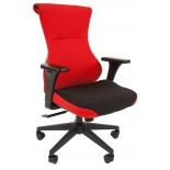 кресло офисное Chairman game 10, черно-красное, 7016534