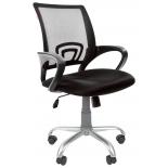 кресло офисное Chairman 696 Silver TW черный (7027371)