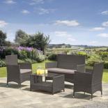 комплект садовой мебели Afina  AFM-2025G из искуственного ротанга серый