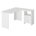 стол компьютерный Мэрдэс СКЛ-Угл 130 БЕ ПРАВ Белый жемчуг без надстройки