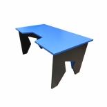стол компьютерный Generic Comfort Gamer/NB, черный/голубой