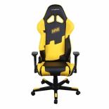 компьютерное кресло DxRacer OH/RE21/NY/NAVI черный/желтый