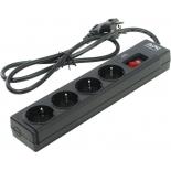 сетевой фильтр APC P43B-RS Черный, 4 розетки, 1м.