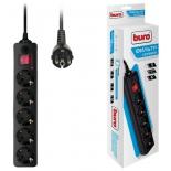 сетевой фильтр Buro 500SH-1.8-B (1.8м 5 розеток), черный