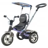 Трехколесный велосипед ICON 4 RT original silver blue puma
