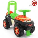 товар для детей Каталка-толокар RT Автошка с музыкальным рулем, зелено-оранжевая Винкс