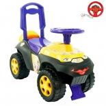 товар для детей Каталка-толокар RT Автошка с музыкальным рулем,фиолетово-желтая Цветочная фея