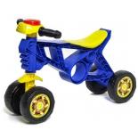 беговел RT Самоделкин 4 колеса с клаксоном, синяя