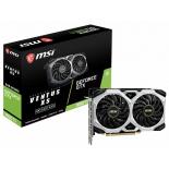 видеокарта GeForce MSI GeForce GTX 1660 TI VENTUS XS 6G OC (GDDR6, HDMI + 3xDP)